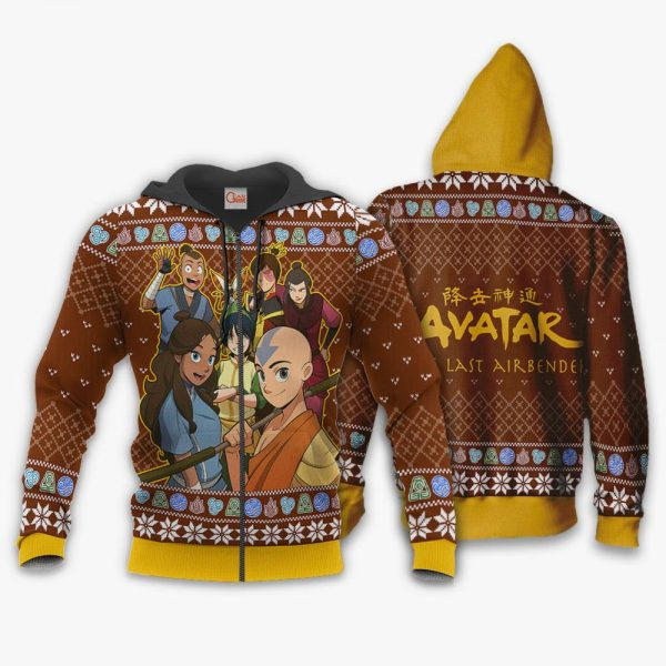 1116 AOP avatar the last airbender ugly sweater VA 1 Zip hoodie font and back n 1500x1500 1 - Avatar The Last Airbender Merch