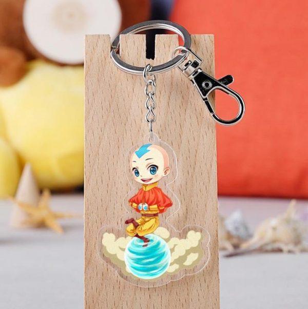 1Pcs Anime Avatar The Last Airbender Keychain Cartoon Figure Aang Katara Azula Acrylic Bag Pendant Keyring 2 - Avatar The Last Airbender Merch