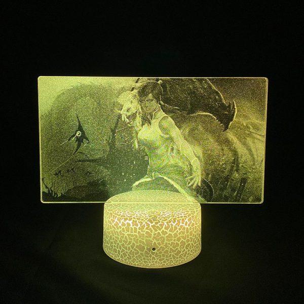 3D Picture Light Anime The Last Airbender Korra Figure Led Night Light Lamp for Bedroom Decor - Avatar The Last Airbender Merch