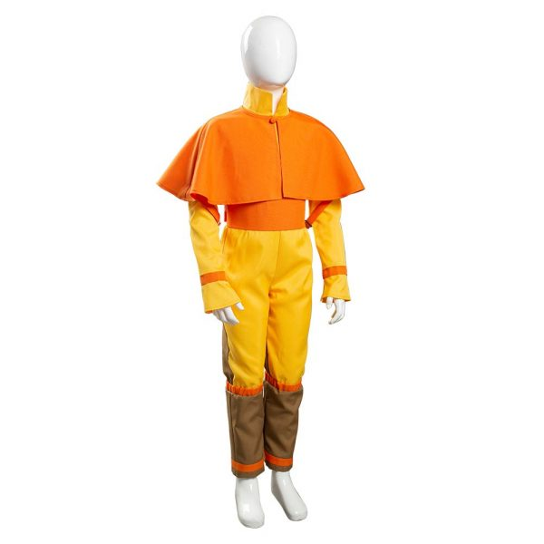 Avatar The Last Airbender Avatar Aang Cosplay Costume Kids Children Jumpsuit Outfits Halloween Carnival Suit 4 - Avatar The Last Airbender Merch
