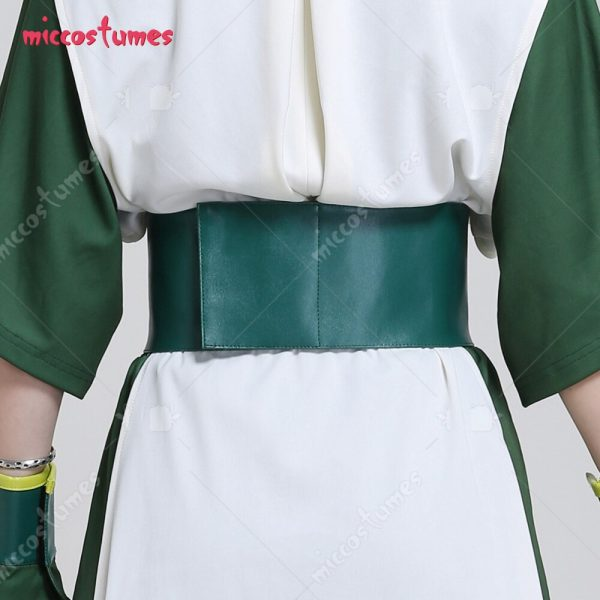 Avatar The Last Airbender Toph Beifong Adult Green Kungfu Suit Cosplay Costume with Hairband 4 - Avatar The Last Airbender Merch