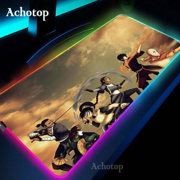 Avatar the Last Airbender Gaming Mouse Pad RGB Mouse Pad Gamer Computer Mousepad RGB Backlit Mause - Avatar The Last Airbender Merch