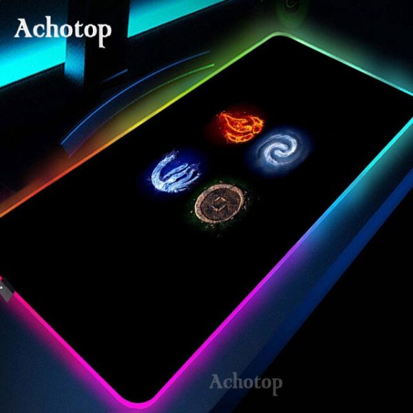 Avatar the Last Airbender Gaming Mouse Pad RGB Mouse Pad Gamer Computer Mousepad RGB Backlit - Avatar The Last Airbender Merch