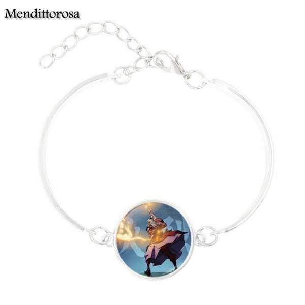 Mendittorosa Avatar the Last Airbender New Brand Jewelry Silver Colour With Glass Cabochon Bracelet Bangle For 3 - Avatar The Last Airbender Merch