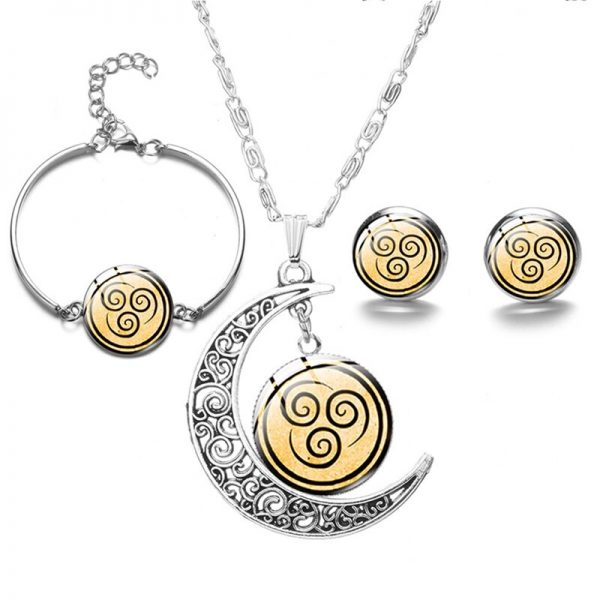 New Avatar The Last Airbender Moon Pendant Necklace For Women Glass Cabochon Charms Fashion Necklace On 4 - Avatar The Last Airbender Merch