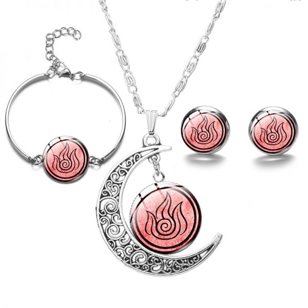 New Avatar The Last Airbender Moon Pendant Necklace For Women Glass Cabochon Charms Fashion Necklace On - Avatar The Last Airbender Merch