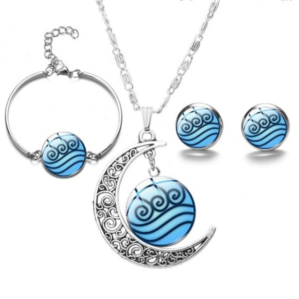 New Avatar The Last Airbender Moon Pendant Necklace For Women Glass Cabochon Charms Fashion Necklace - Avatar The Last Airbender Merch