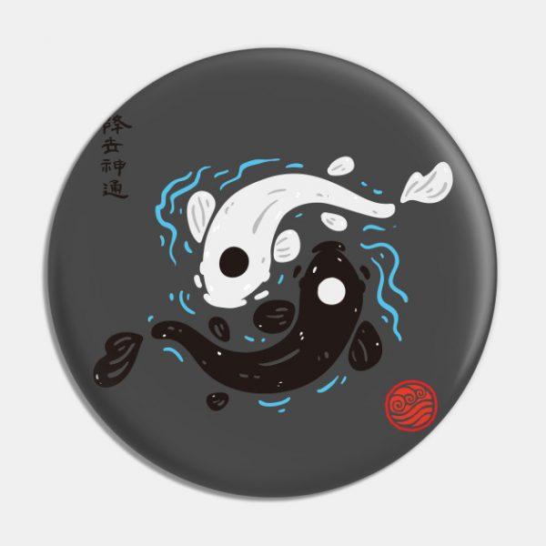 Yin Yang Koi Fish Pin - Avatar The Last Airbender Merch