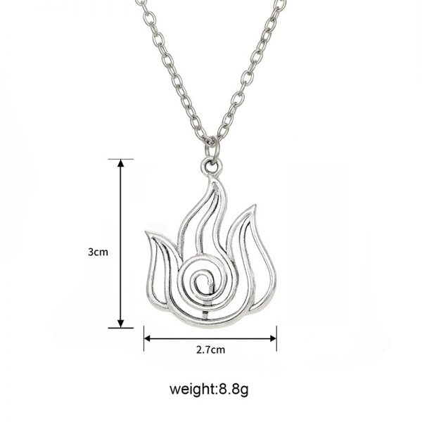 Avatar The Last Airbender Pendant Necklace Air Nomad Fire and Water Tribe Link Chain Necklace For 2 - Avatar The Last Airbender Merch