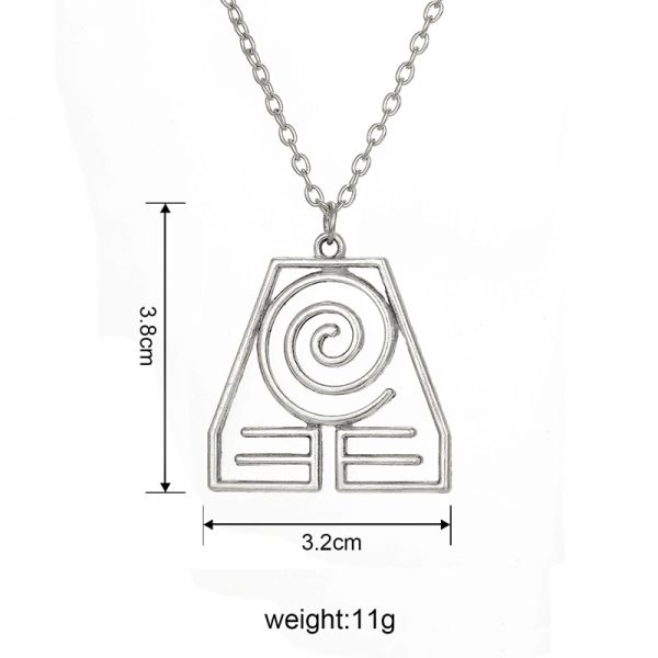Avatar The Last Airbender Pendant Necklace Air Nomad Fire and Water Tribe Link Chain Necklace For 4 - Avatar The Last Airbender Merch