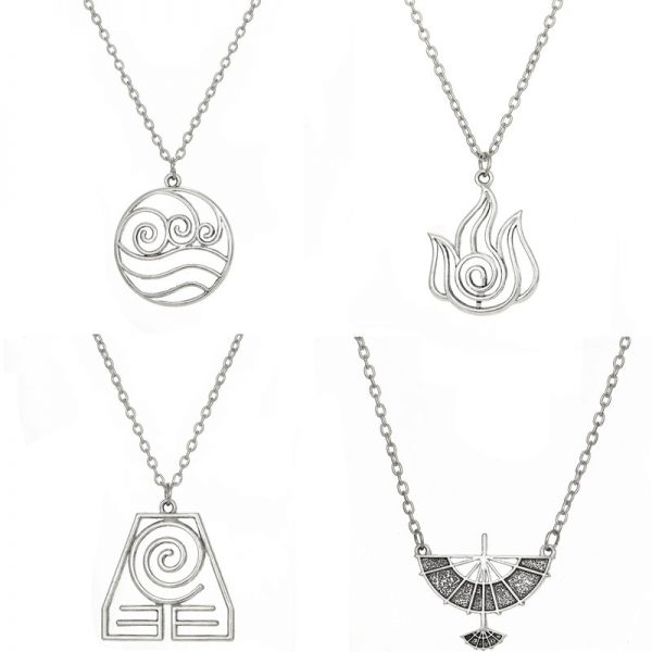 Avatar The Last Airbender Pendant Necklace Air Nomad Fire and Water Tribe Link Chain Necklace For - Avatar The Last Airbender Merch