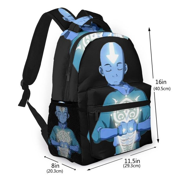 Avatar The Last Airbender School Bags Aang s Avatar State With Raava Beautiful backpack for Men 1 - Avatar The Last Airbender Merch
