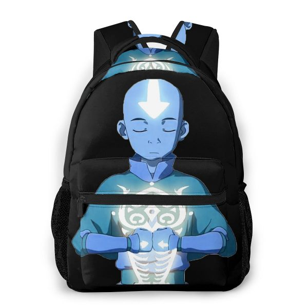 Avatar The Last Airbender School Bags Aang s Avatar State With Raava Beautiful backpack for Men - Avatar The Last Airbender Merch