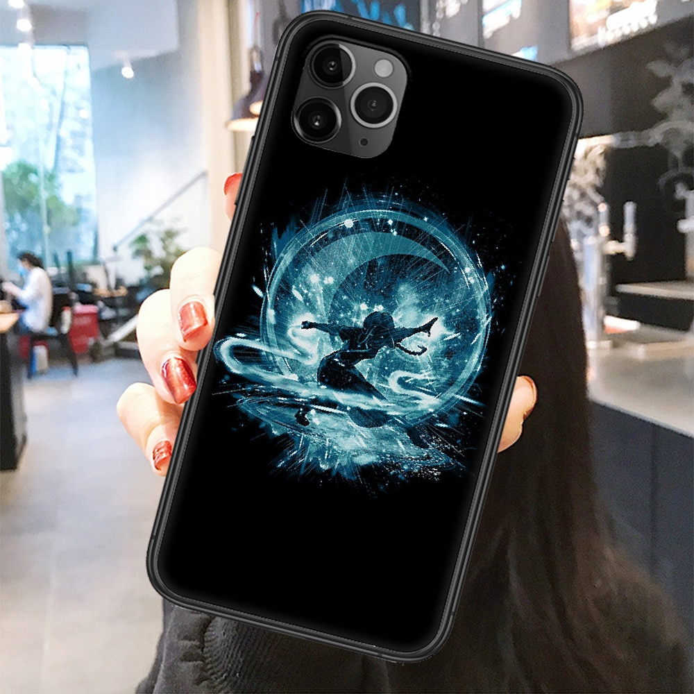 Avatar The Last Airbender Appa Phone Case Cover Hull For iphone 5 5s se 2 6 6s 7 8 12 mini plus X XS XR 11 PRO MAX Frosted black