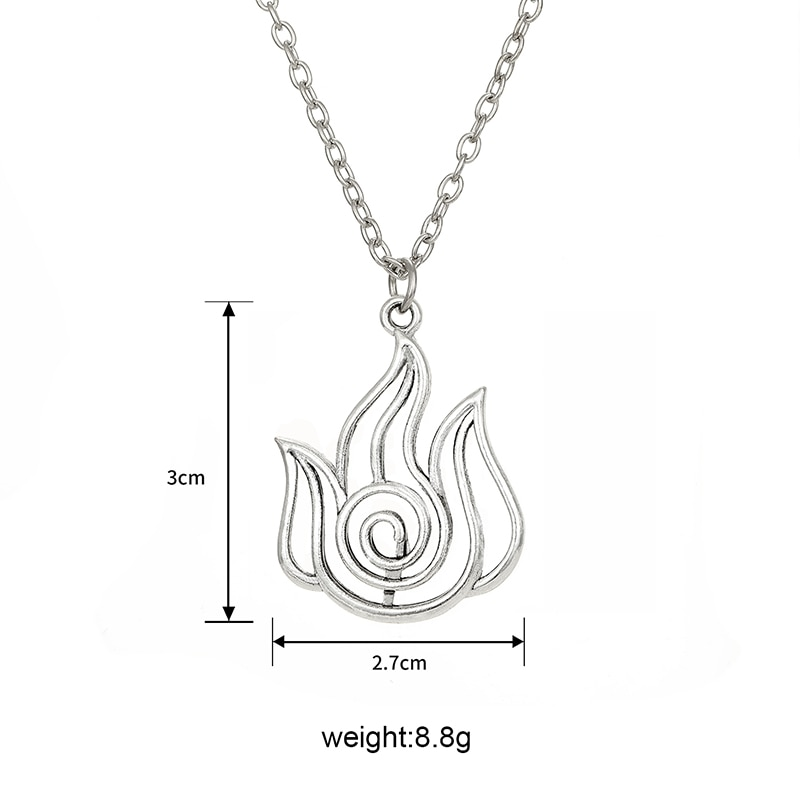 Avatar The Last Airbender Pendant Necklace Air Nomad Fire and Water Tribe Link Chain Necklace For Men Women High Quality Jewelry
